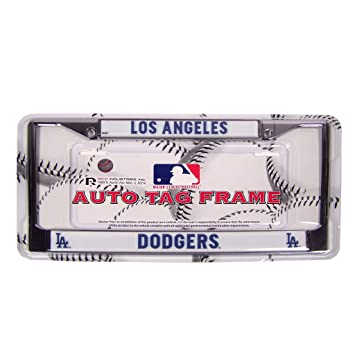 rico industries mlb chrome license plate frame los angeles dodgers