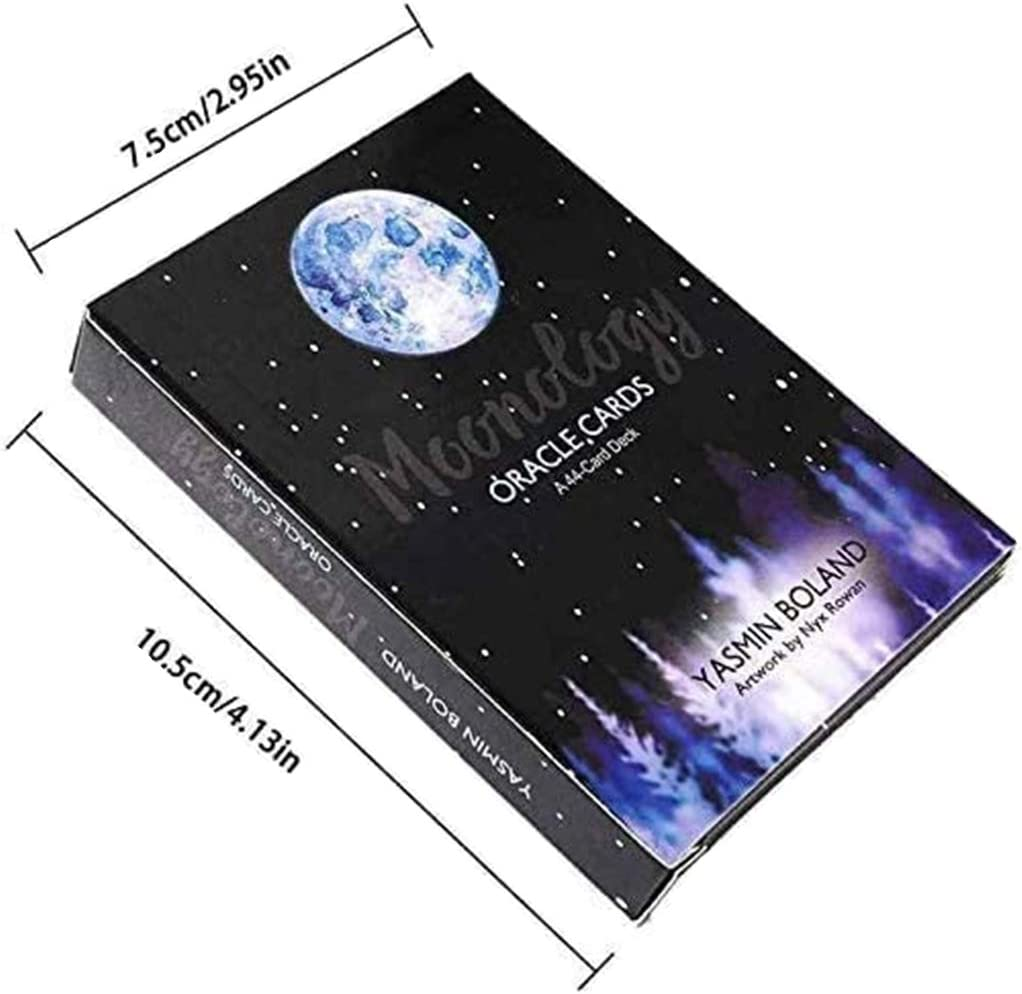 AOAO Moonology Oracle Cards A 44-Card Deck and Guidebook Fortune Telling Cards Mysterious Unusual Astrological