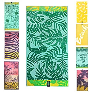 jilda-tex Telo mare 90 x 180 cm, asciugamano da spiaggia, asciugamano 100% cotone biologico, velour, spugna, GOTS… 1 spesavip