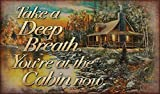 River's Edge Take A Deep Breath You're At The Lake Now Door Mat, 30 x 17.7''