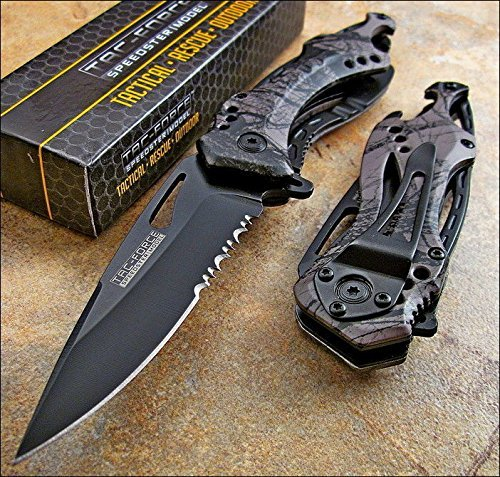 TAC-FORCE Spring Assisted Opening GRAY CAMO Bottle Opener Gl