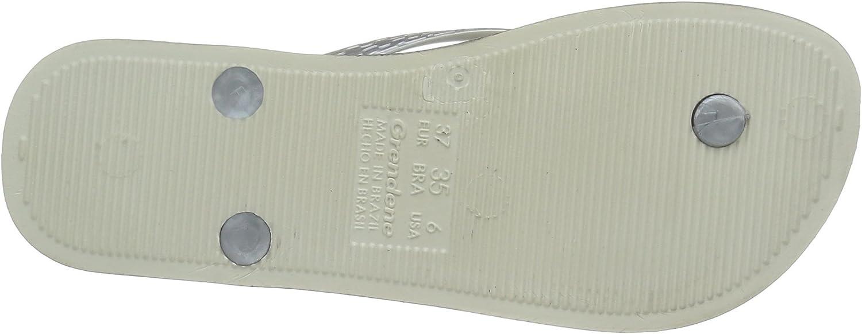 Ipanema Womens Anatomica Brilliant Plastic Slip On Flip Flop Silver//White-White-6