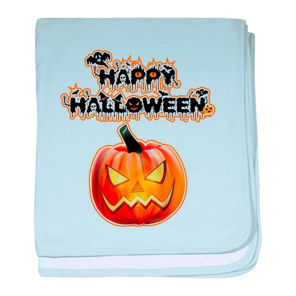 Royal Lion Baby Blanket Happy Halloween Pumpkin - Sky Blue