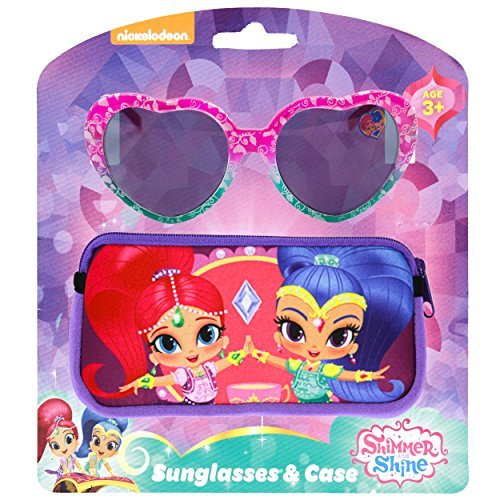 Nickelodeon Shimmer and Shine Kids Children Girls Sunglasses with Soft Carrying Case (Shimmer Starlight)