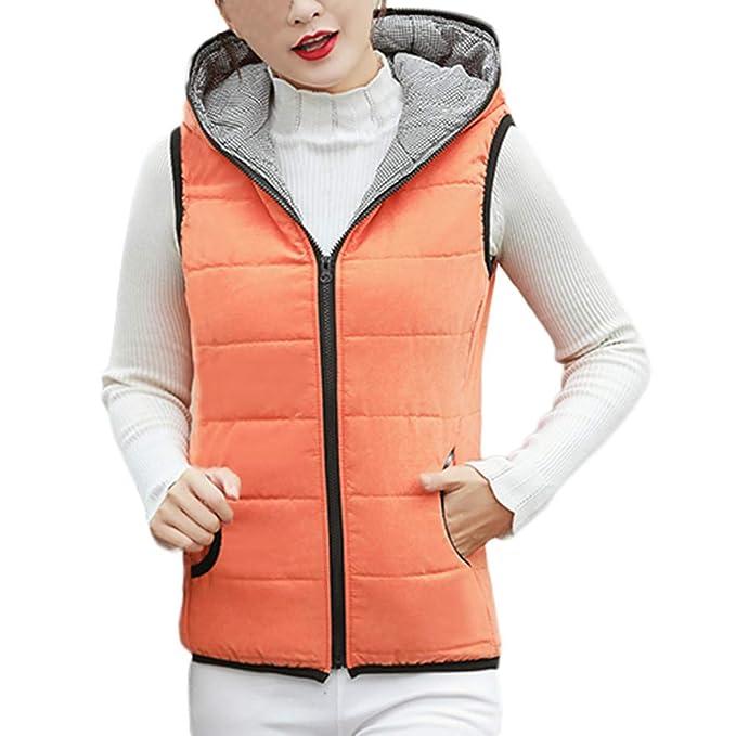 Linlink Gran promoción Ropa Navidad Mujer Abrigo con Capucha Chaqueta Delgada Invierno Parka Outwear Abrigos Chaleco Outwear: Amazon.es: Ropa y accesorios