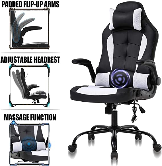 PC Gaming Chair Ergonomic Racing Heavy Duty Office Chair Video Game Chair