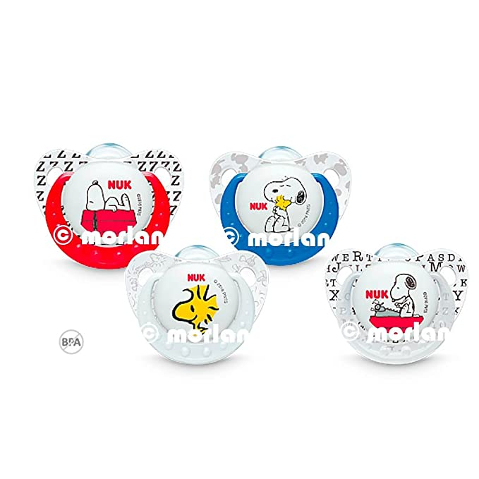 Nuk Chupete Snoopy Silicona T1 0-6meses, 2uds