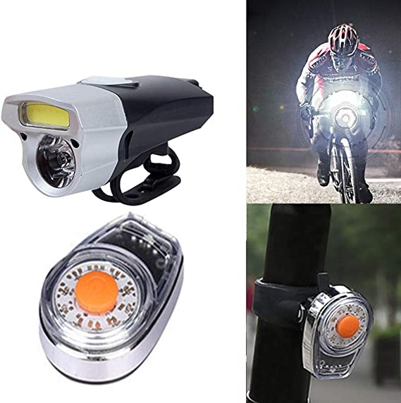 Fahrradlampe Fahrrad Licht vorne und hinten LED Taschenlampe sehr hell NEU