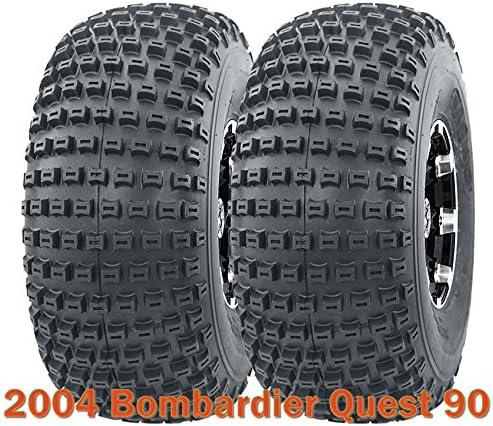 (2) 20x7-8 for 2004 Bombardier Quest 90 ATV Front Tire Set 4PR 618IS8SNv8L