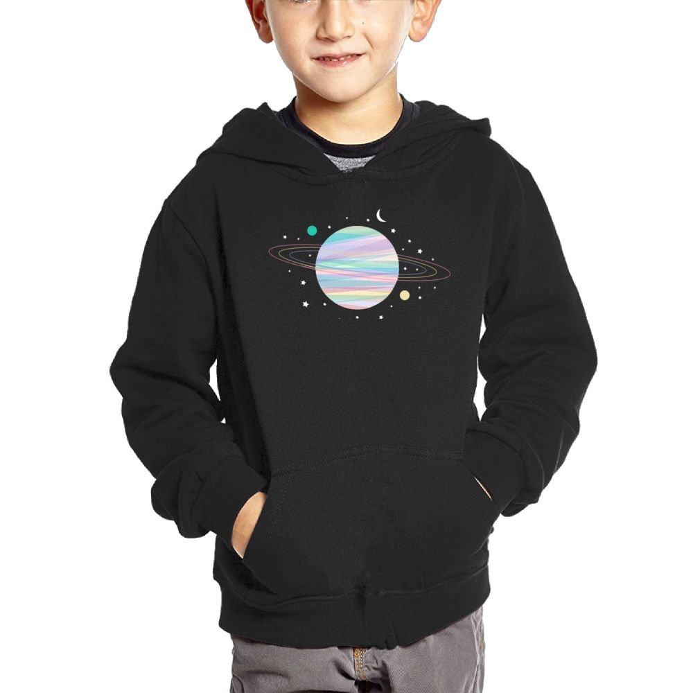 Anutknow Aesthetic Pastel colorful Planet Childrens Fashion Casual Hooded Pocket Sweater