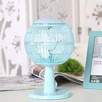 XUE Mini Ventilador del Aire Acondicionado del USB con humectador del espray de Agua y Ventiladores del Escritorio de la luz de la Noche, luz portátil Linda para el Escritorio