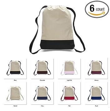 e577efbf81b Amazon.com   ( 6 Pack ) Drawstring BackPacks