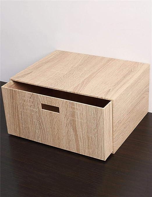 Speedmar Cajas organizadoras de Almacenamiento portátiles de Madera, Grandes cajones, para el hogar, Ropa o Juguetes, Caja de Almacenamiento (26,5 x 33 x 17 cm): Amazon.es: Hogar