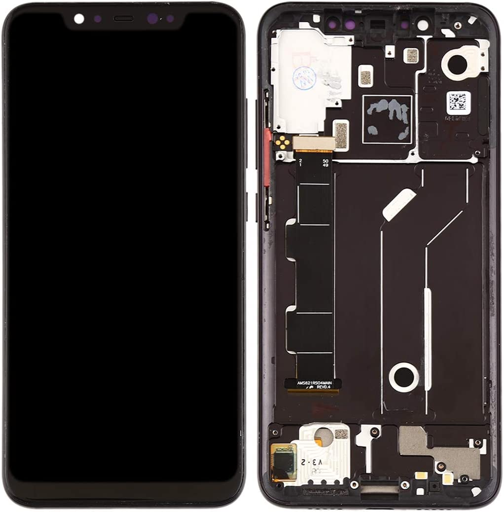 Black Color : Blue MOBILEACCESSORIES for jodnn dian TENGLIN LCD Screen and Digitizer Full Assembly with Frame /& Side Keys for Xiaomi Mi 8