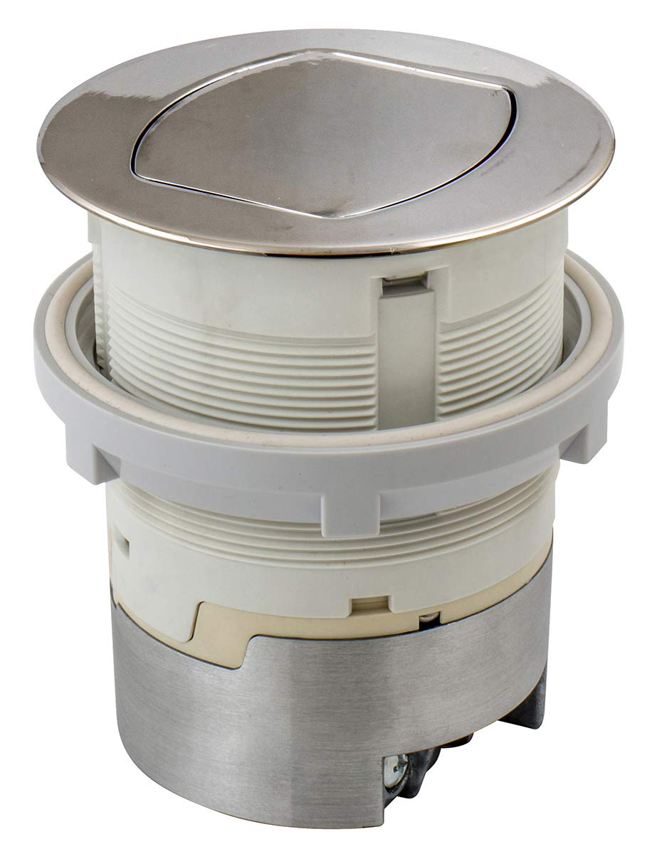 Bryant Electric RCT201NI Pop, Countertop Receptacle, Polished Nickel