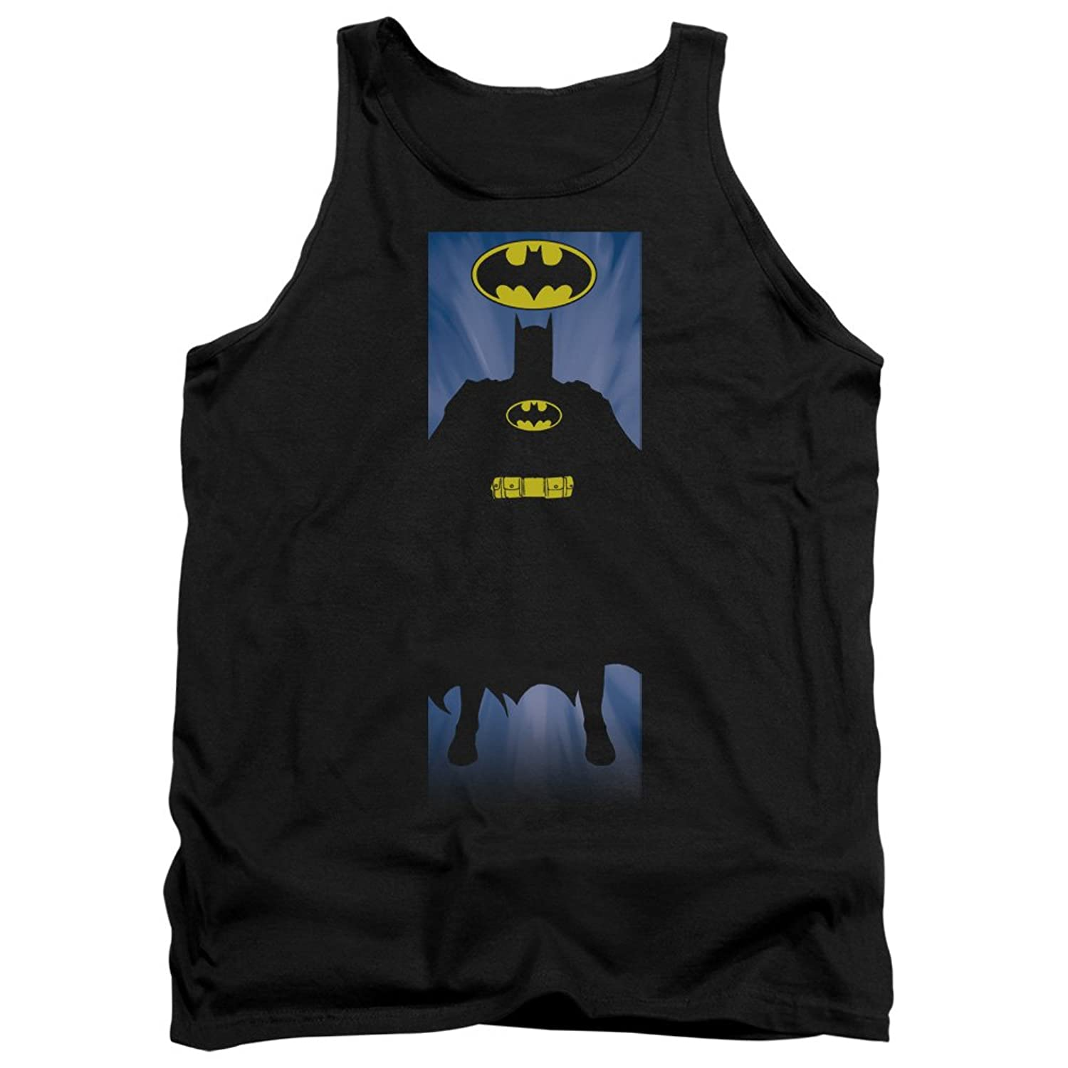 Batman DC Comics Super Silhouette Block Multi-Tone Backdrop Adult Tank Top Shirt