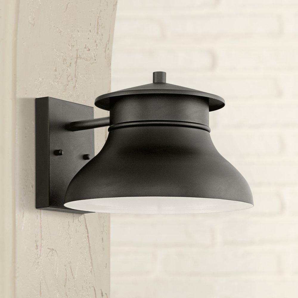 Outdoor Wall Lighting Led energy efficient black 7 12 high outdoor wall light amazon workwithnaturefo