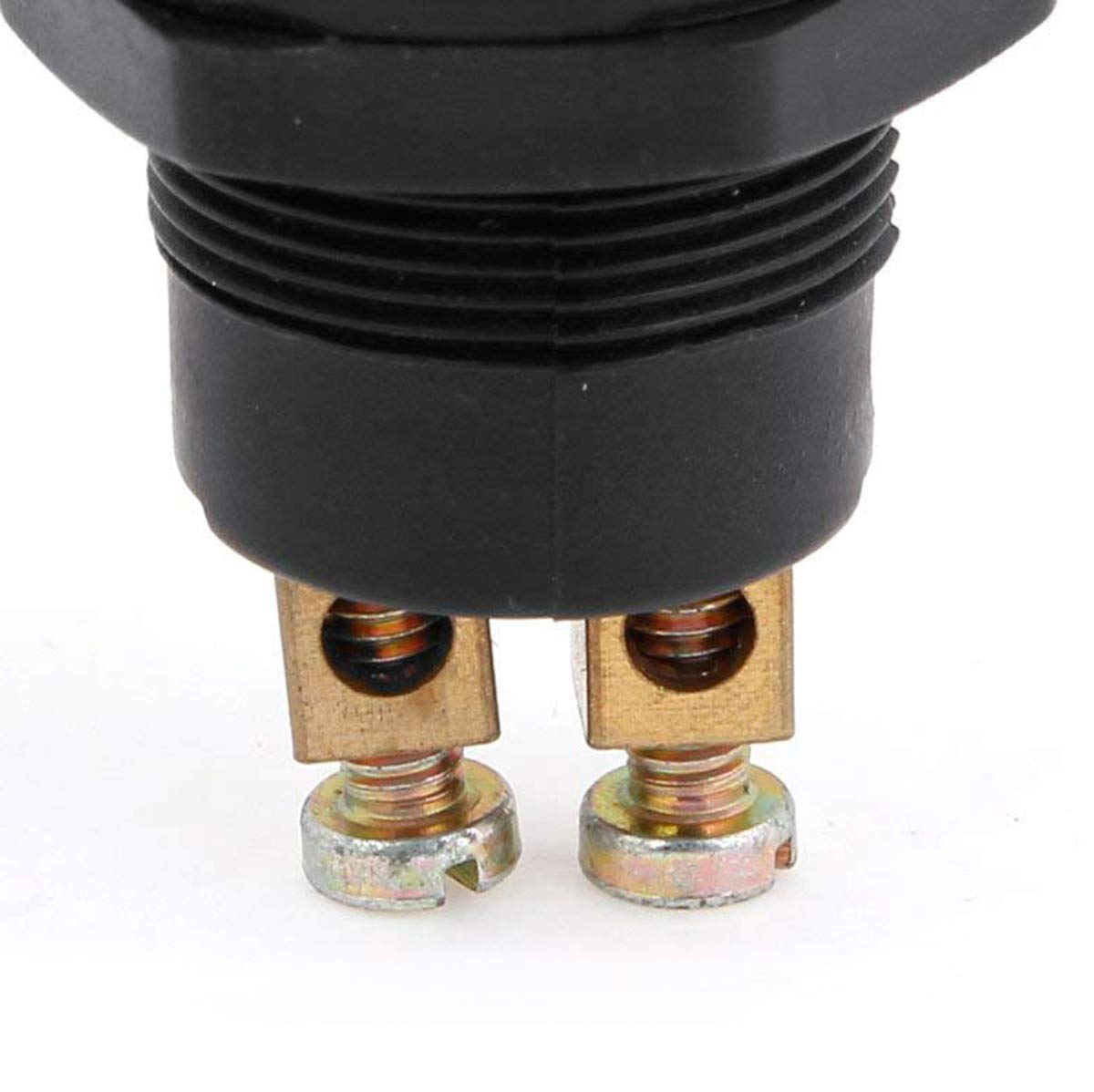 Reset Push Button Switch High Flush Reactable Screw Terminals Auto Car Switch ON Autoly 5pcs DC 12V Round Cap Top Waterproof Metal Momentary OFF-