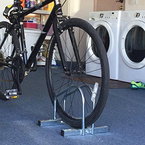 EasyGo Floor Stationary Single Bike Wheel Rack, Indoor – Outdoor Bike Stand