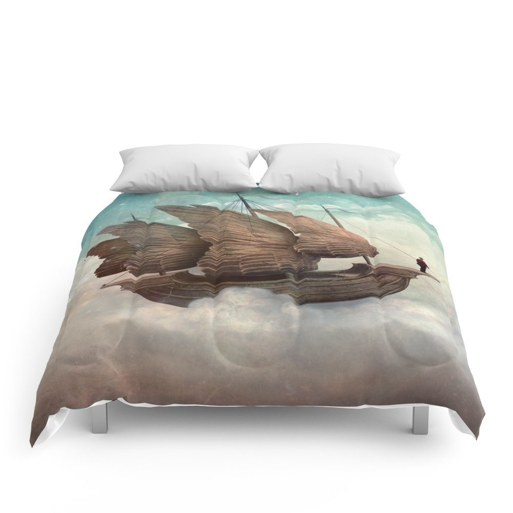 Society6 Flying Merchant Comforters Queen: 88'' x 88'' by Society6