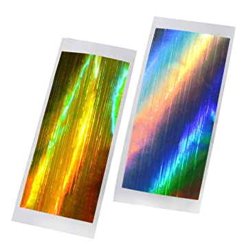 Amazon Enforten 2 Sheets Holo Strip Tape Gold Silver Laser