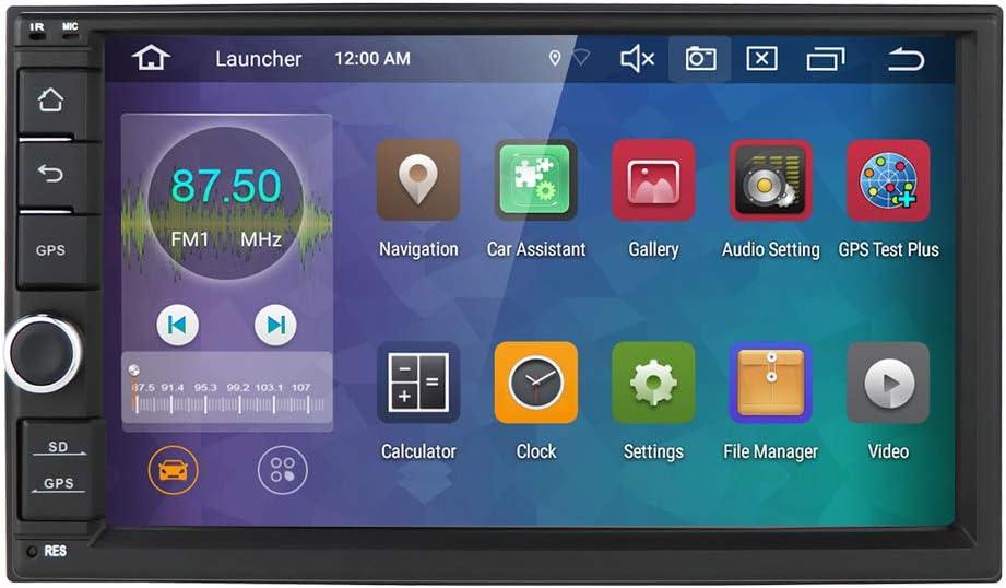 hizpo Android 10 Radio Universal para automóvil Reproductor Multimedia de 7 Pulgadas 64 GB + 4 GB Navegación GPS para automóvil Bluetooth WiFi Hotspot Dab + Subwoofer USB SD