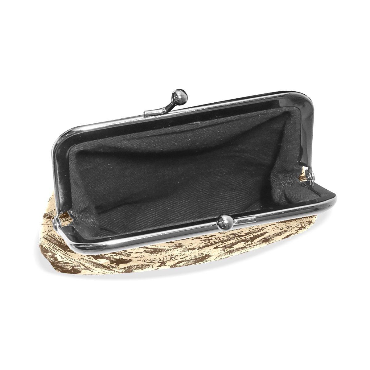AURELIOR Vintage Halloween Black Cat Bat Coin Purse Change Cash Bag Small Purse Wallets for Women Girl
