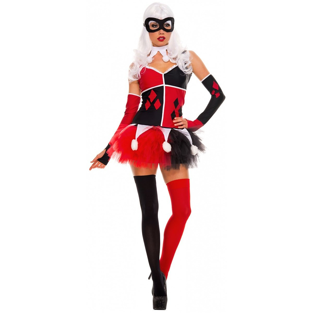 4428a1d0ecf Amazon.com  Music Legs Women s Harley Jester Costume  Clothing