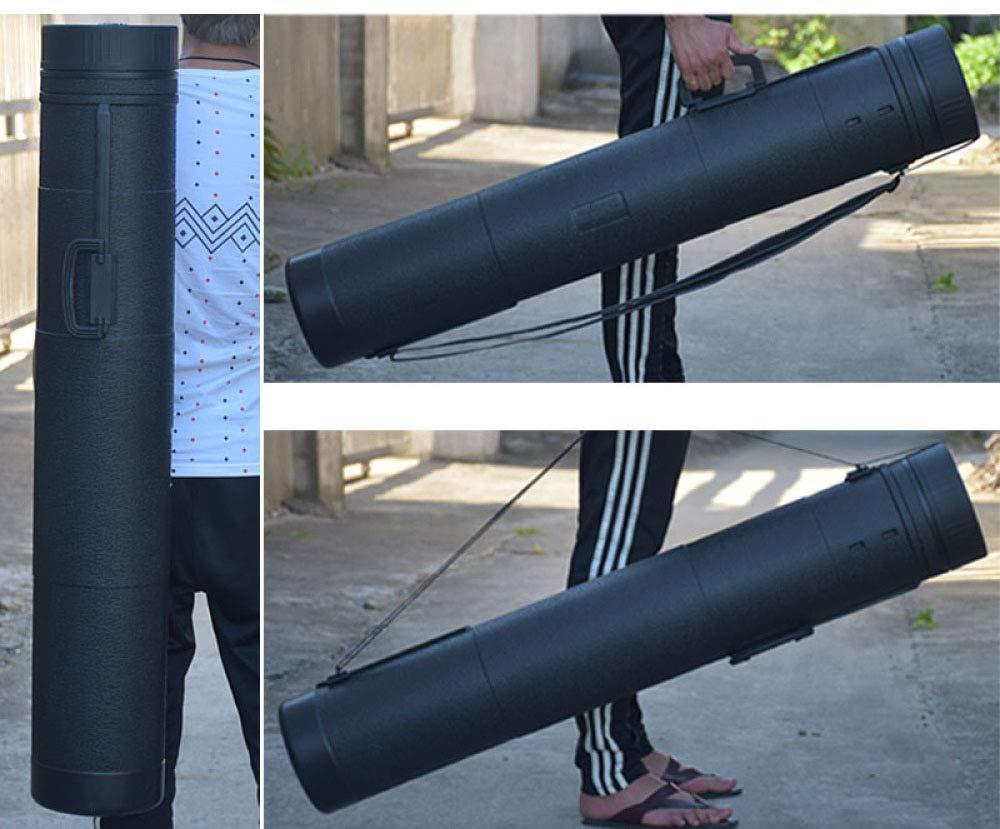 Dibujos Y Papeles Tubo Portaplanos Extensible 107-180cm con Correa para El Hombro para Guardar Obras De Arte