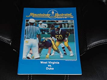1985 Duke At West Virginia College Football Program Near Mint At