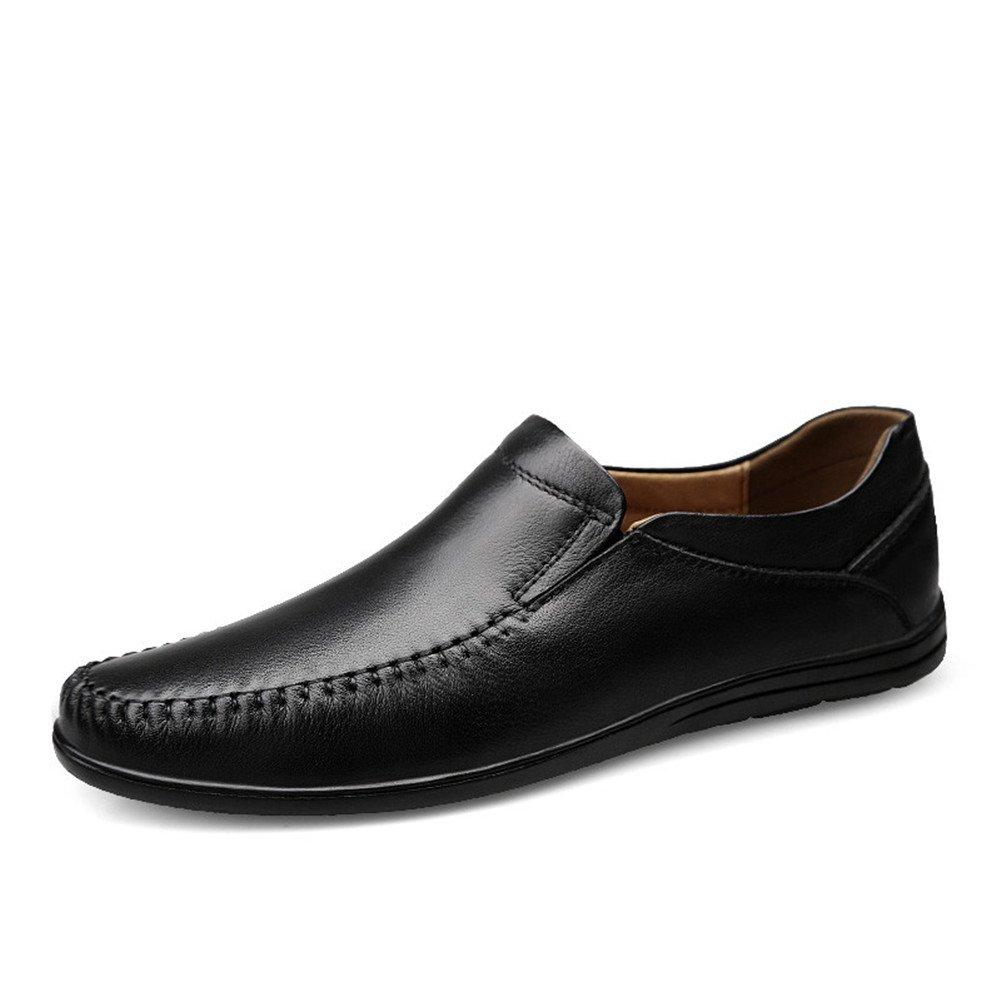 Simple Moda Mocasines Hombre Artesanal Negocios Conducción Caminar Zapatos 37 EU|Negros