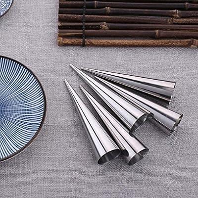Moldes para horno, conos para horno, moldes para repostería, moldes de pastelería – 5 piezas de molde de acero inoxidable para pastelería de 13 cm: Amazon.es: Hogar