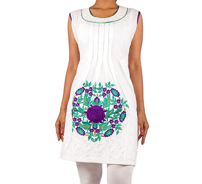 Mruga Womens Cotton White 38 Kurta: Amazon in: Clothing