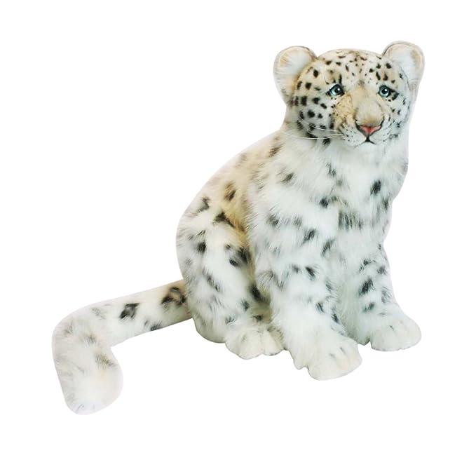 Amazon Com Hansa Snow Leopard Cub Plush Toys Games