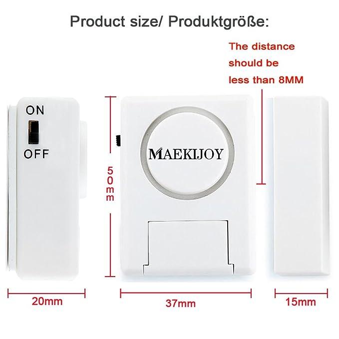 Kit de alarma para ventana / puerta 100dB, [4 piezas ...