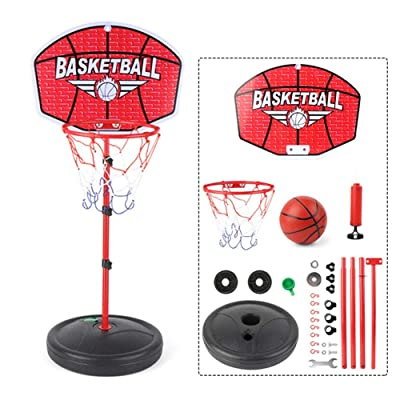 Gorge-buy Basketball Hoop Stand with Ball, Portable Basketball Hoop System with Adjustable Height 116-150cm, Kids Basketball Stand Sport Game Play Sets, with Pump and Other Accessories: Sports & Outdoors