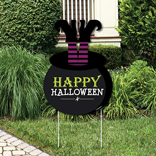 Big Dot of Happiness Happy Halloween - Party Decorations - Witch Party Welcome Yard Sign -