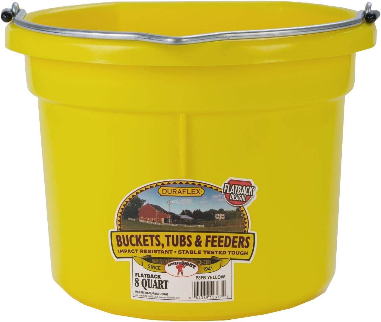 Soporte de pared para alimentación animal y agua cubo Flatback cubo con espalda plana