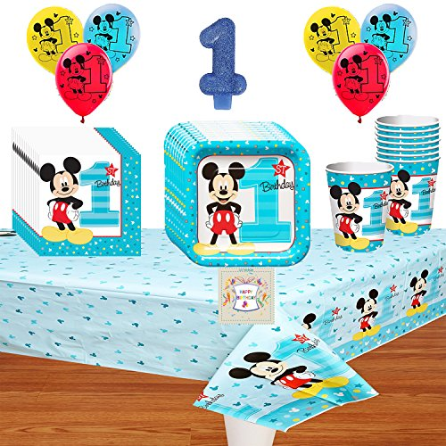 Mickeys 1st Birthday Fun To Be One Deluxe Party Pack Bundle
