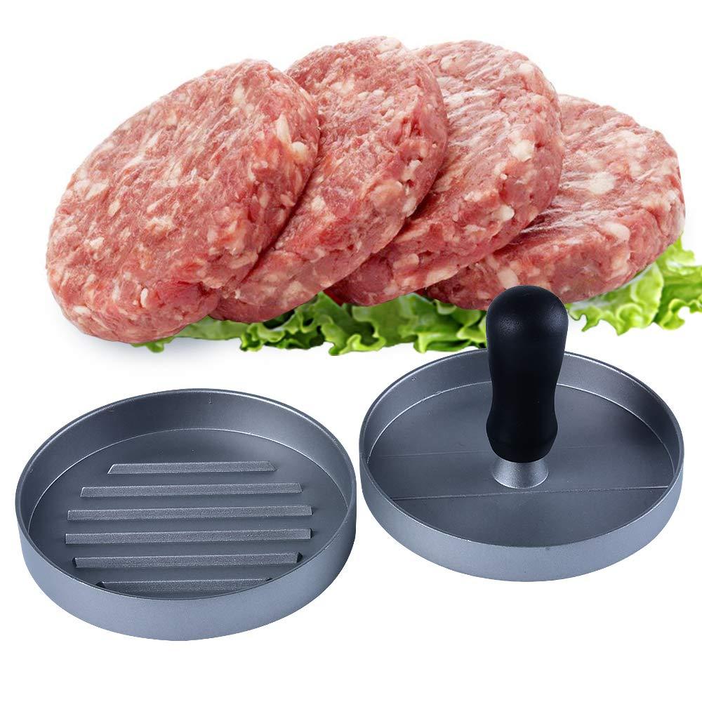 MISS C.CAT Non-Stick Hamburger Press Patty Maker for Stuffed Burgers - Aluminum Burger Press Essential Kitchen & Grilling Accessories
