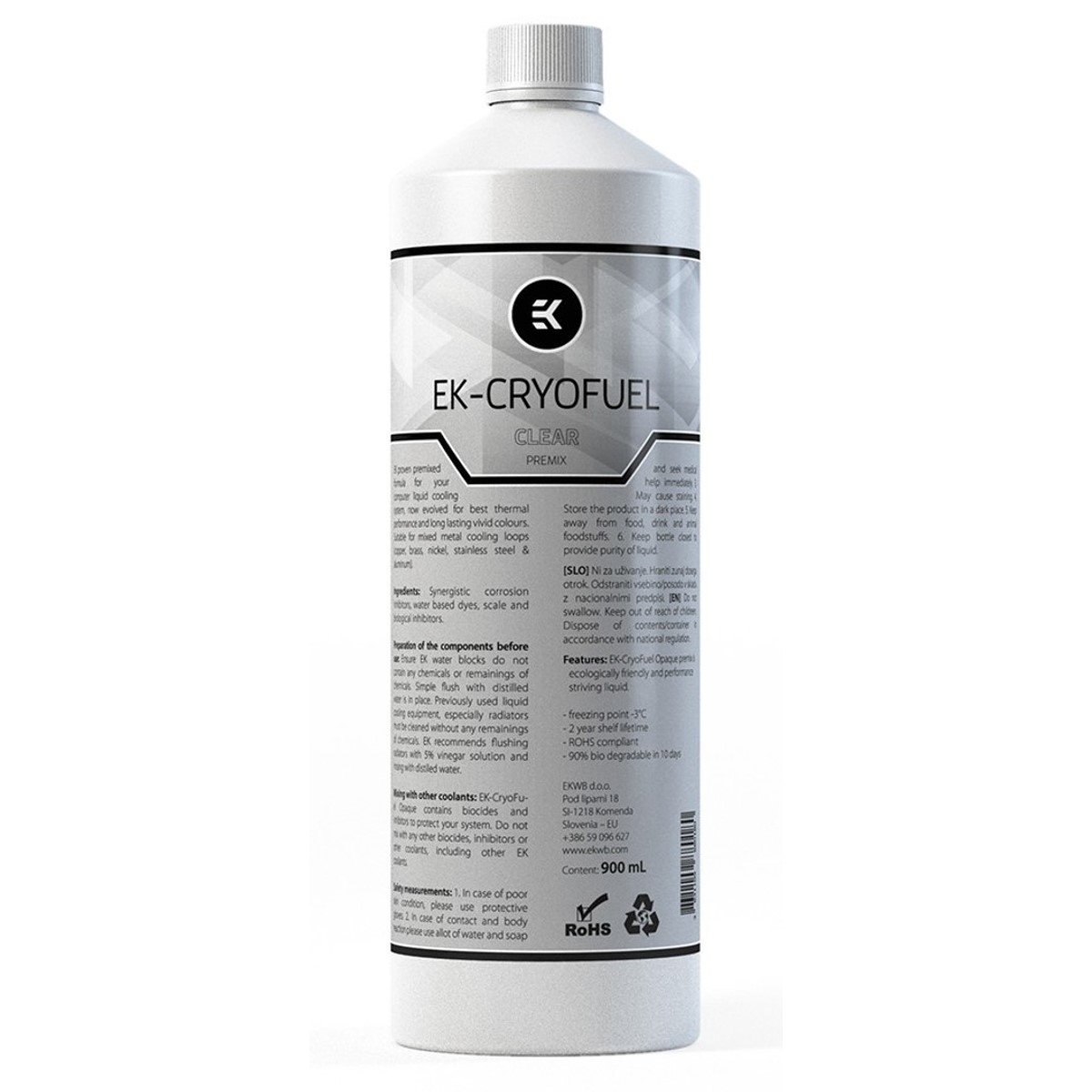 EKWB EK-CryoFuel Premix Coolant, 900mL, Clear