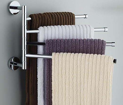 4 Schichten Edelstahl Badezimmer Handtuchhalter Halter Poliert Rack ...