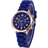 Geneva Platinum Silicone Strap Analogue Watch for Women & Girls - GP-379