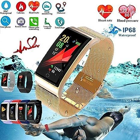 Fitness Tracker Activity Tracker Relojes Inteligentes Pulsera Inteligente Monitor de Ritmo cardíaco Presión Arterial (Rojo