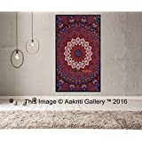 Tapestry Single Orange and Blue Star Tapestries Wall Hanging Art Decor Mandala Hippie Dorm 84X55 inches AAKRITI