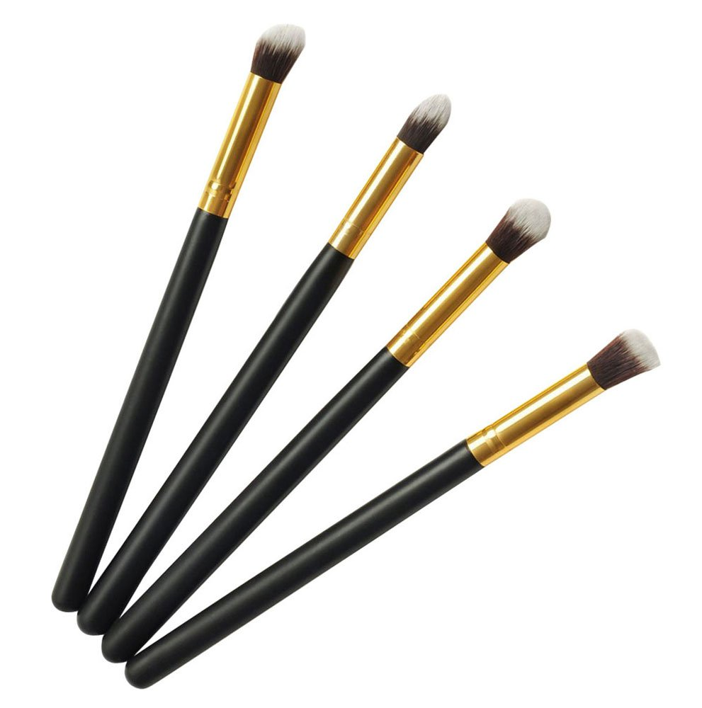 Kobwa(TM) Pro Foundation Makeup Tools Cosmetic Brush Blending Face Eye Brush Kit Sets, 4 Pieces with Kobwa's Keyring