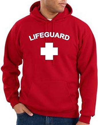busca lo último bien fuera x precios de remate Life Guard sudadera con capucha, con Logo - Rojo -: Amazon ...