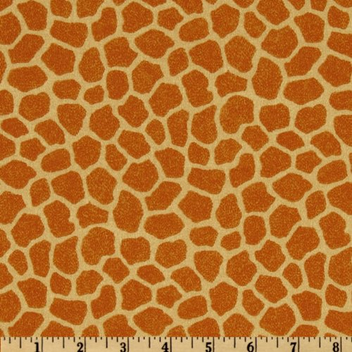 Fabric Traditions Jungle Babies Giraffe Tan Fabric by The ()