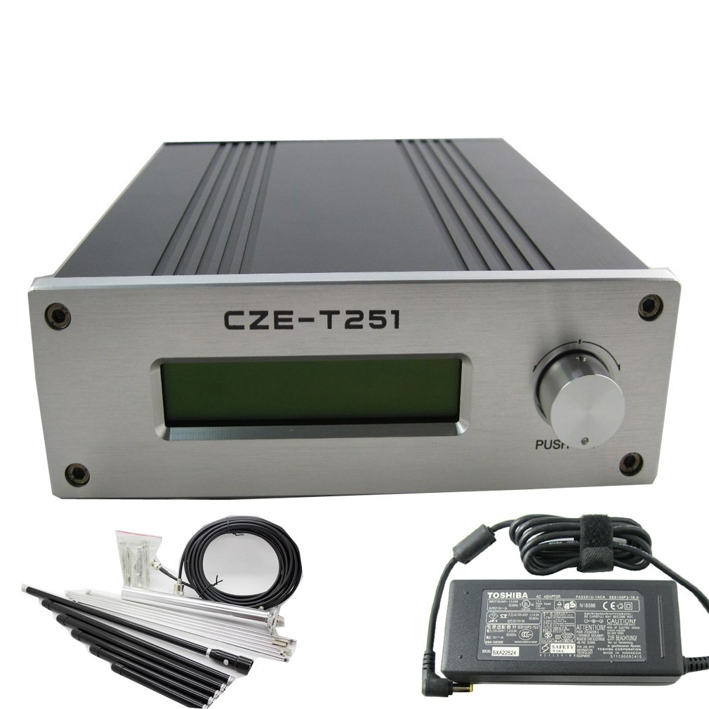 CZH CZE-T251 25w 調整可能 ウェーブ Fm トランスミッター ブロードキャスト パワー 0-25w パワー 調整可能 87-108mhz 1/4 ウェーブ アンテナ Nj キット B00EE5FSV8, M'sスポーツ:3d527c88 --- sharoshka.org