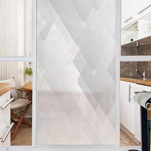 Película decorativa para ventana, sin pegamento, película de privacidad esmerilada, película para puerta de vidrio teñido,